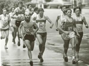 Keine Hipster-Demo, sondern Marathon-Läufer in Rotterdam 1981.