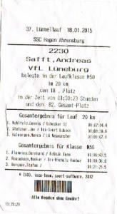 Kein Kassenbon, sondern mein Ergebnis aus Ahrensburg.