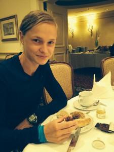 Anna Hahner futtert sich stark für den Wien-Marathon. Foto: hahnertwins/facebook