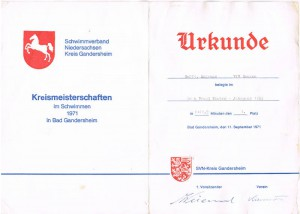 Das Dokument meines größten Triumphs: Kreismeister - mit sieben Jahren!